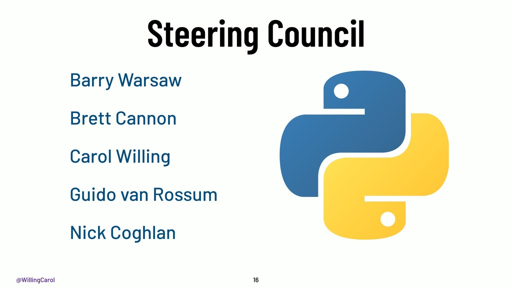 @WillingCarol Steering Council 16 Barry Warsaw ...