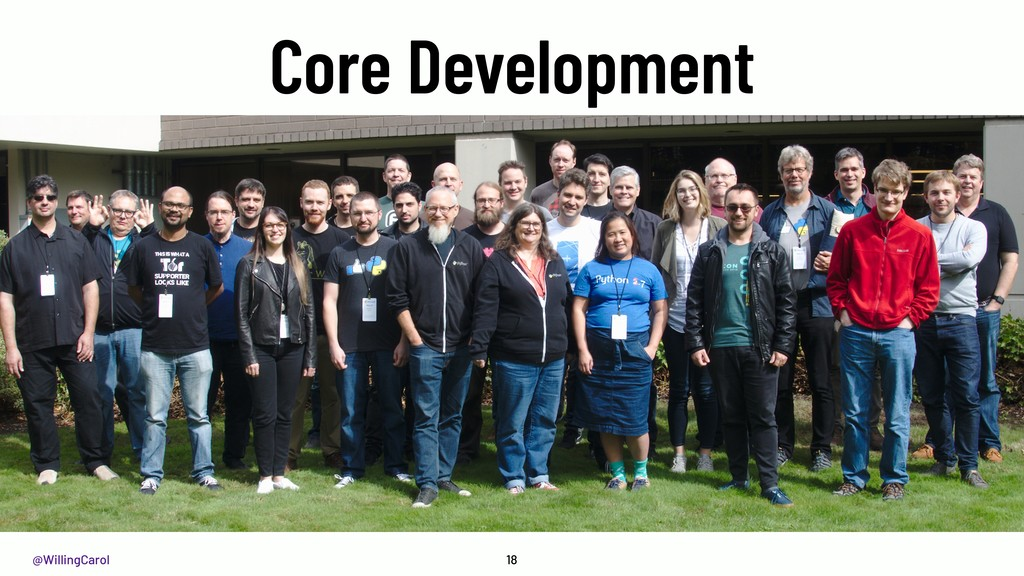 @WillingCarol Core Development 18