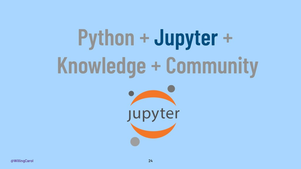@WillingCarol 24 Python + Jupyter + Knowledge +...
