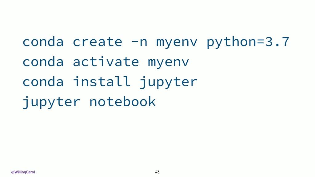 @WillingCarol 43 conda create -n myenv python=3...