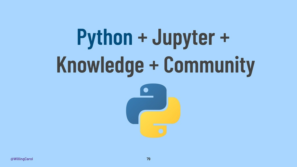 @WillingCarol 79 Python + Jupyter + Knowledge +...