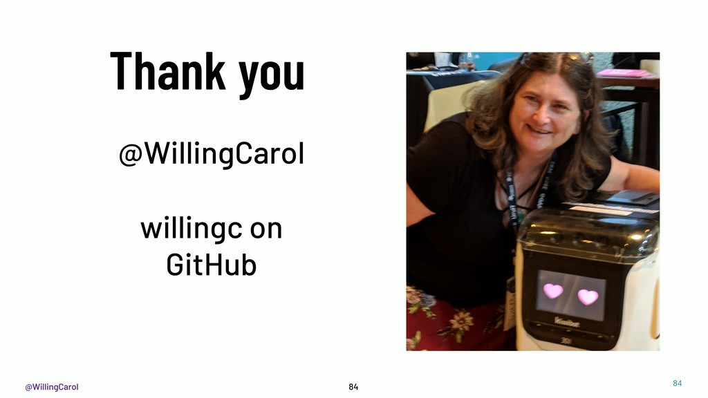 @WillingCarol 84 Thank you @WillingCarol willin...