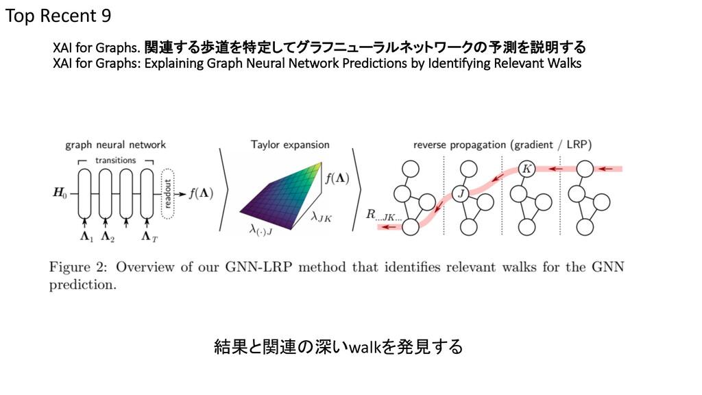 XAI for Graphs. 関連する歩道を特定してグラフニューラルネットワークの予測を説明...