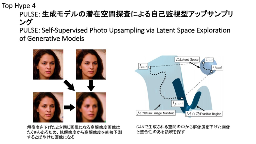 PULSE: 生成モデルの潜在空間探査による自己監視型アップサンプリ ング PULSE: Se...