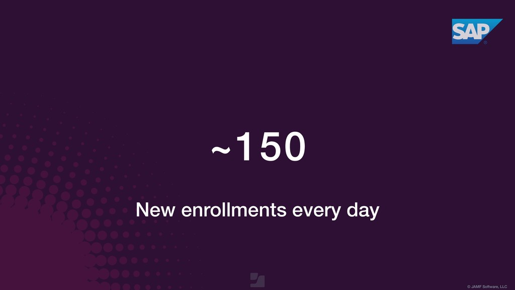 © JAMF Software, LLC ~150 New enrollments every...