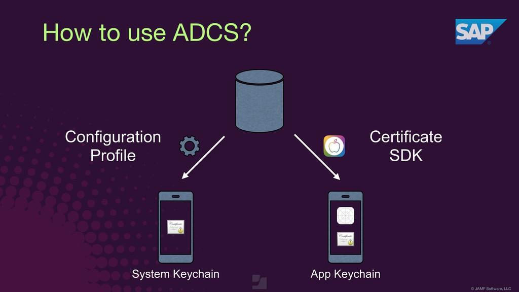 © JAMF Software, LLC How to use ADCS? Configura...