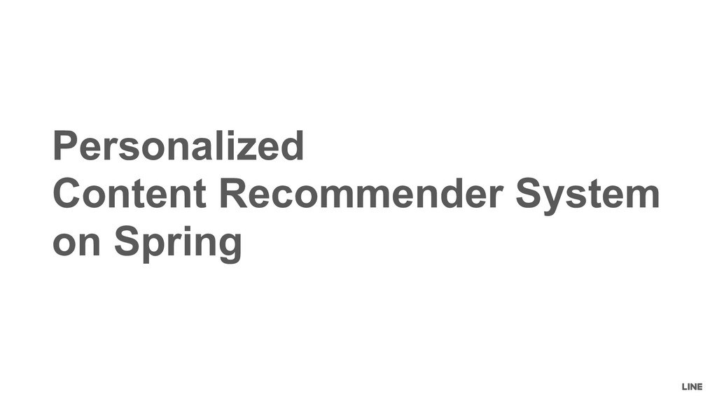Personalized Content Recommender System on Spri...