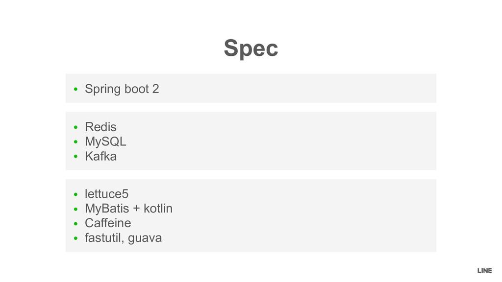 ● Redis ● MySQL ● Kafka ● Spring boot 2 ● lettu...
