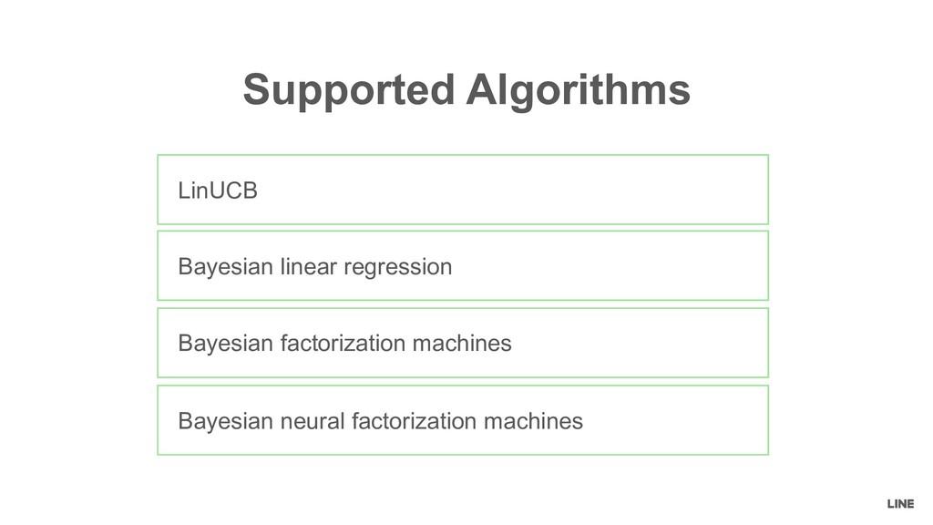 LinUCB Bayesian linear regression Bayesian fact...