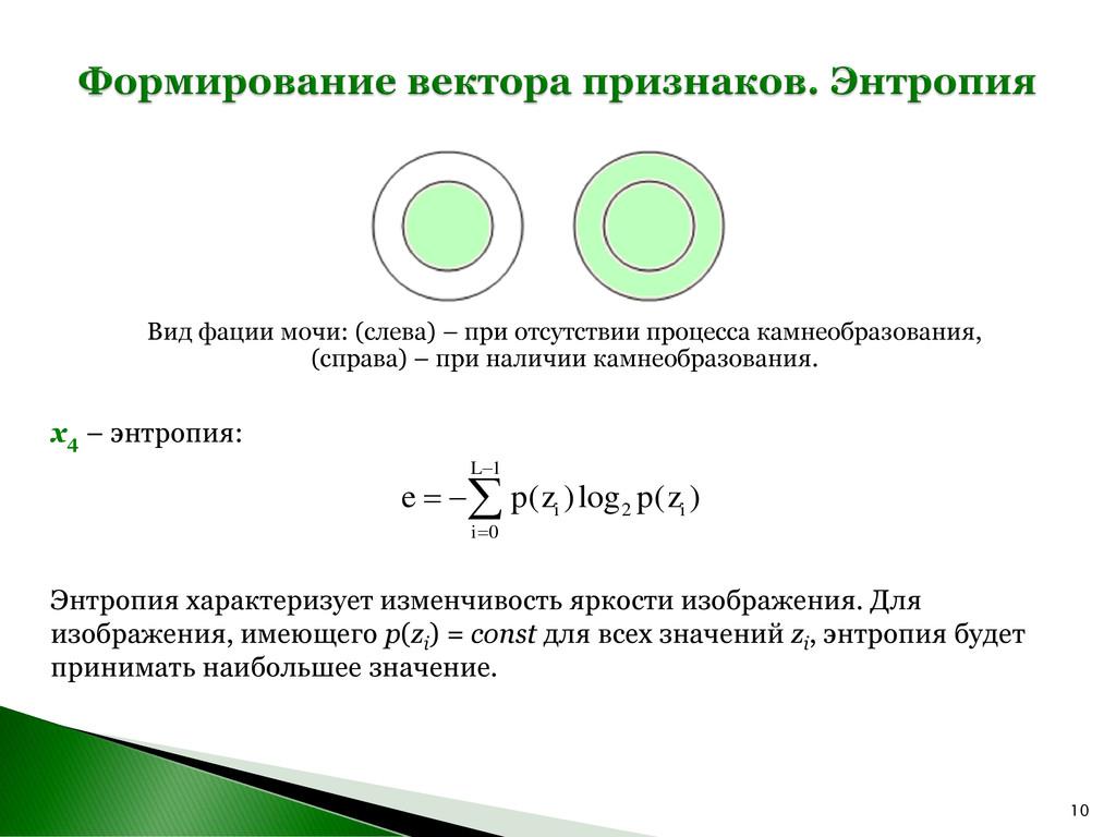 10 x4 – энтропия: Энтропия характеризует изменч...