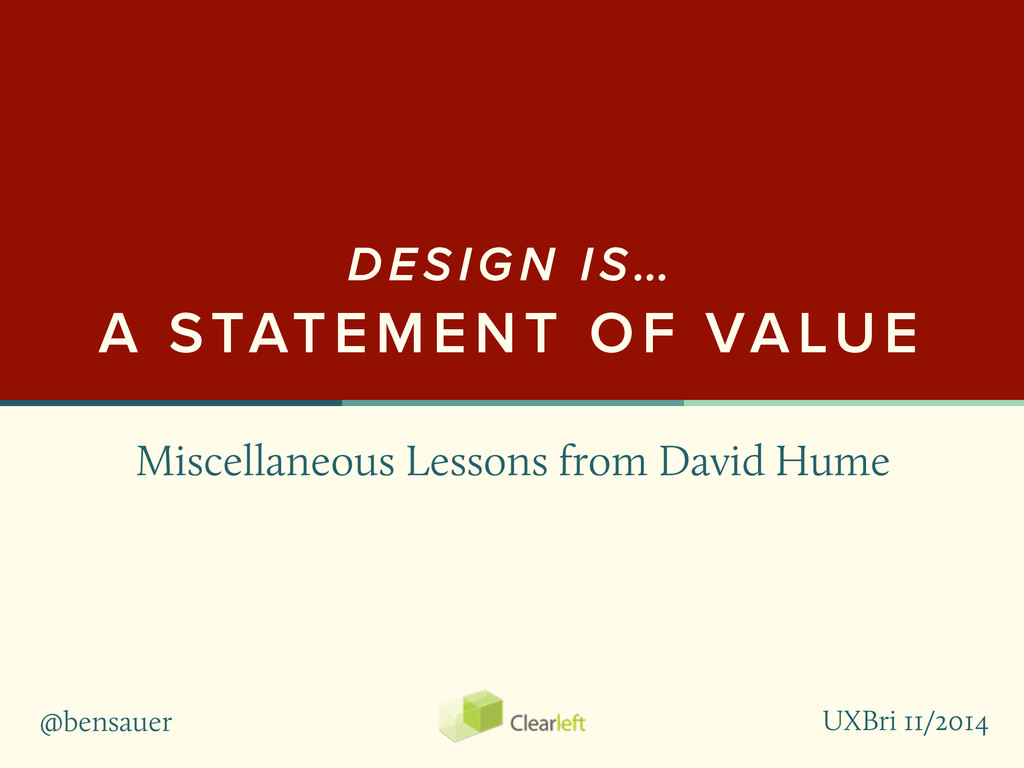 @bensauer Miscellaneous Lessons from David Hume...