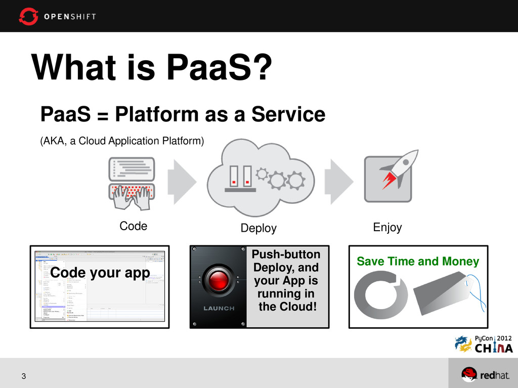 3 What is PaaS? PaaS = Platform as a Service (A...