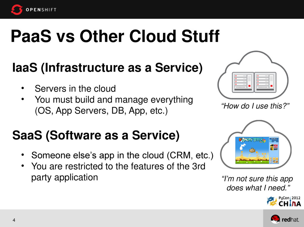 4 PaaS vs Other Cloud Stuff IaaS (Infrastructur...