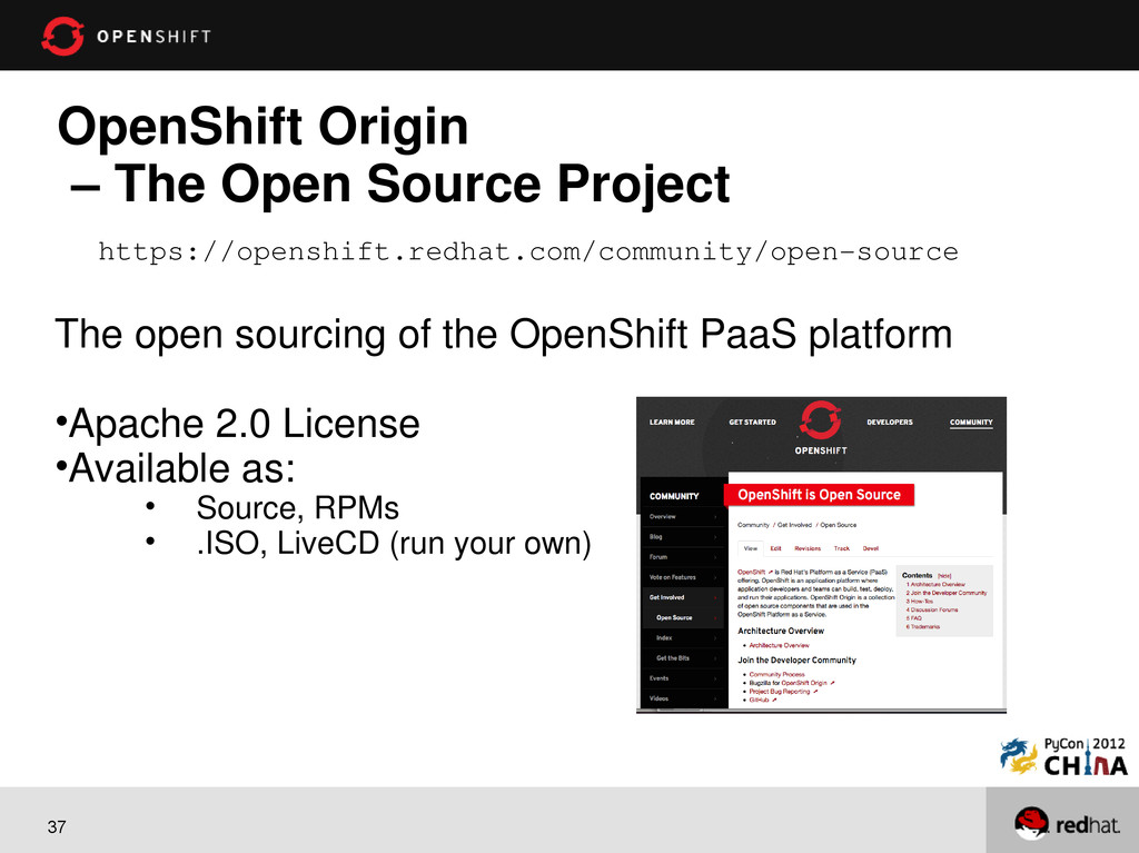 37 OpenShift Origin – The Open Source Project T...