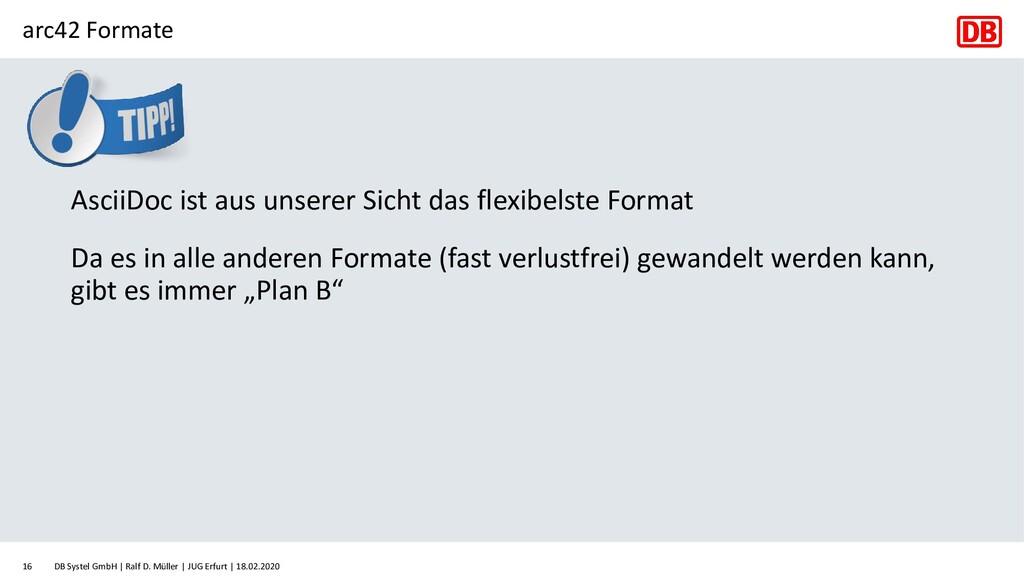 arc42 Formate DB Systel GmbH | Ralf D. Müller |...