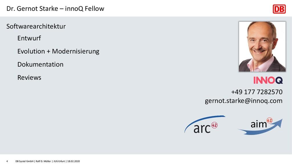 Dr. Gernot Starke – innoQ Fellow Softwarearchit...