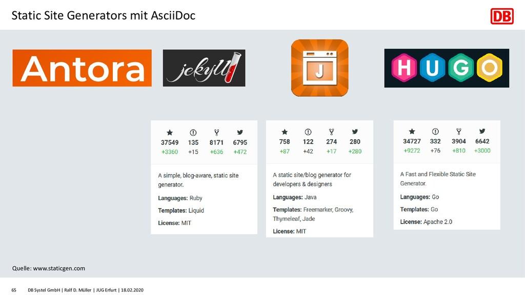 Static Site Generators mit AsciiDoc DB Systel G...