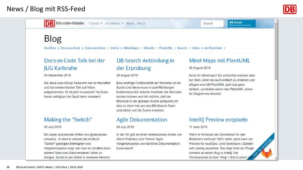 News / Blog mit RSS-Feed DB Systel GmbH | Ralf ...