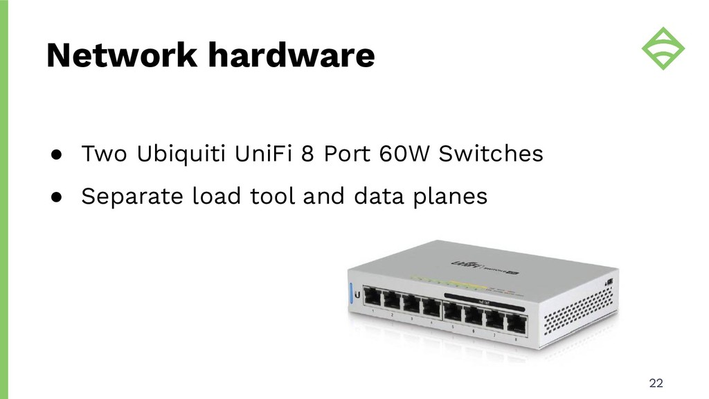 ● Two Ubiquiti UniFi 8 Port 60W Switches ● Sepa...
