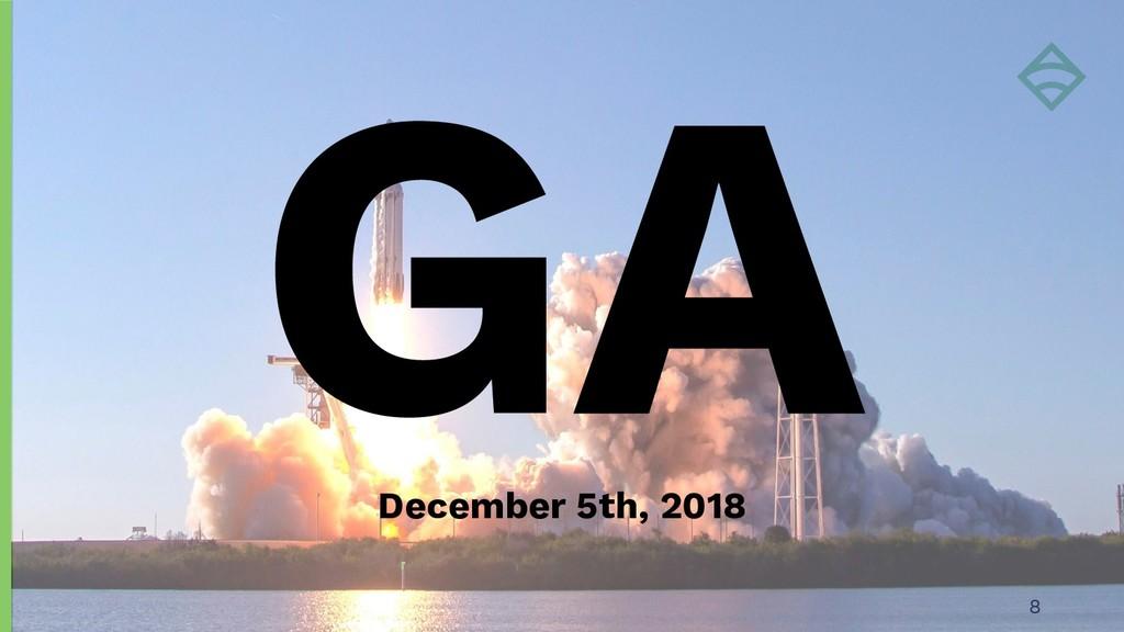 GA 8 December 5th, 2018