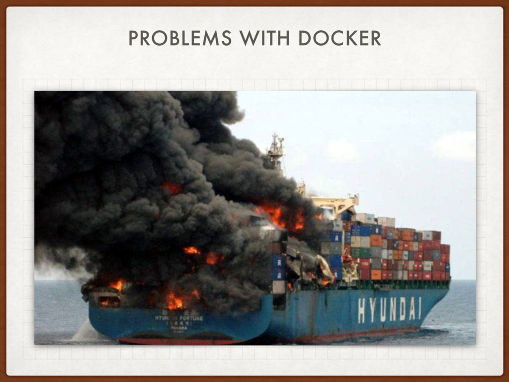 PROBLEMS WITH DOCKER