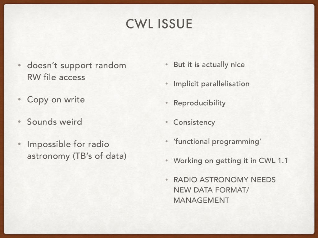 CWL ISSUE • doesn't support random RW file acce...
