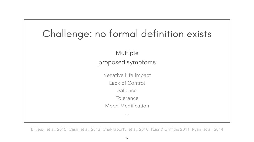 Challenge: no formal definition exists !17 Mult...