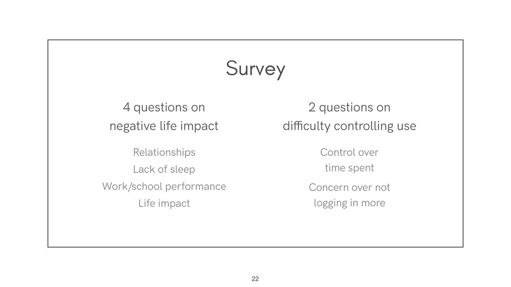 Survey !22 4 questions on