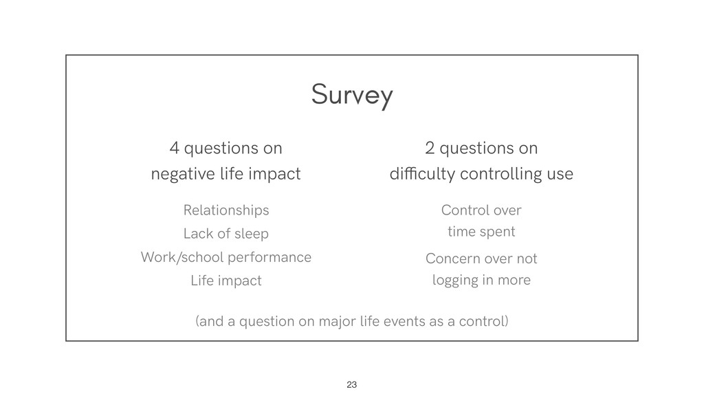 Survey !23 4 questions on