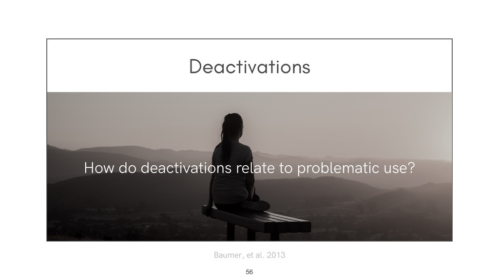 Deactivations !56 How do deactivations relate t...