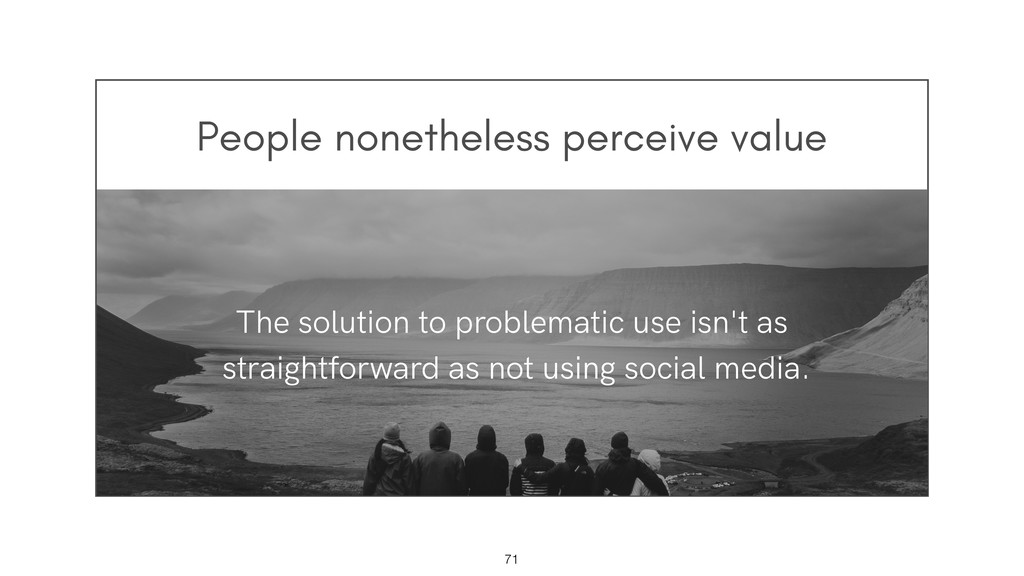 People nonetheless perceive value !71 The solut...