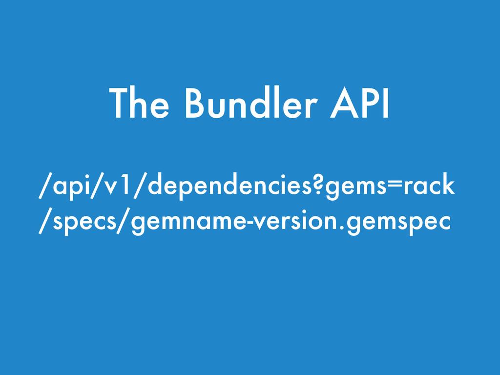 /api/v1/dependencies?gems=rack /specs/gemname-v...