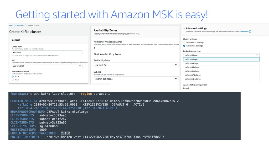 Getting started with Amazon MSK is easy!