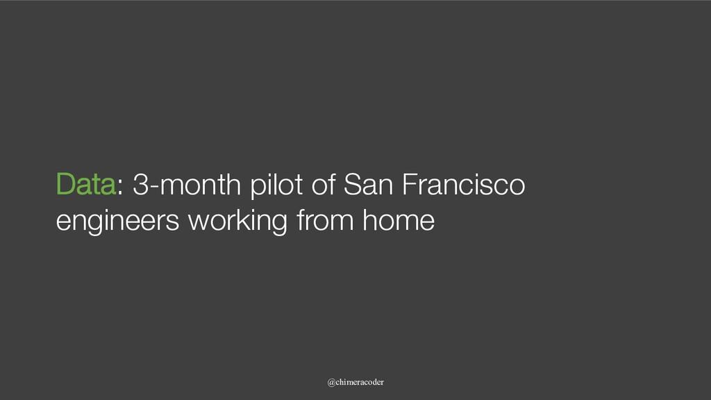 @chimeracoder Data: 3-month pilot of San Franci...
