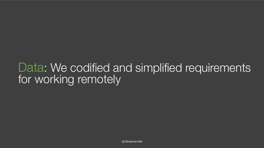@chimeracoder Data: We codified and simplified ...