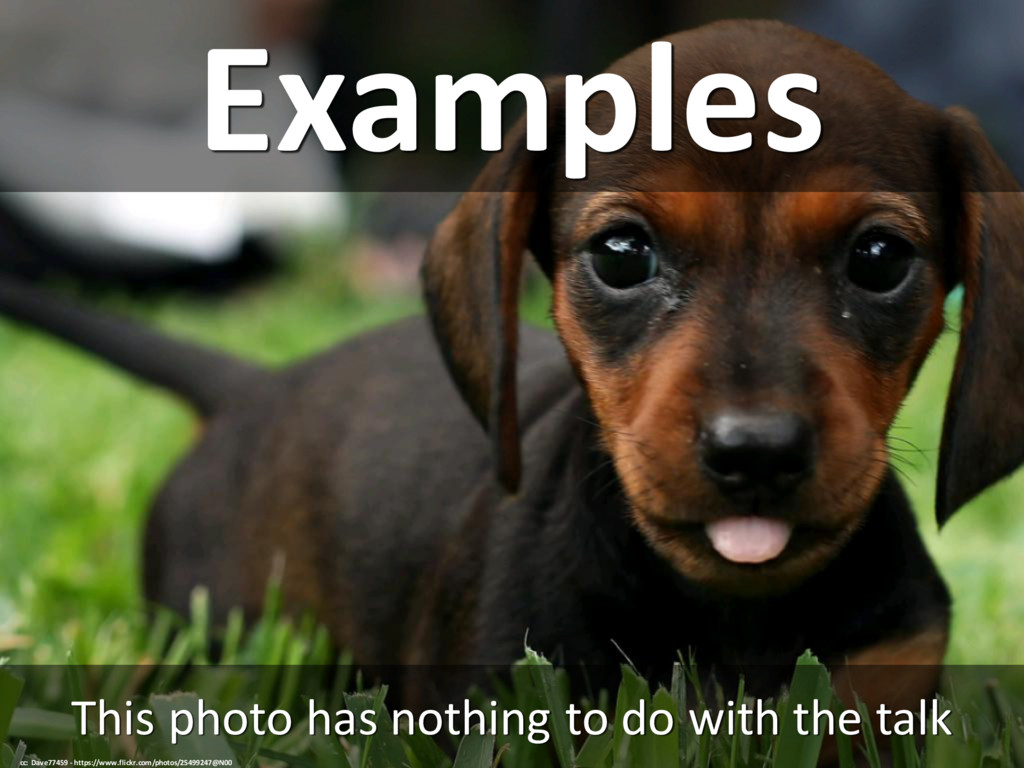 Examples This photo has nothing to do with the ...
