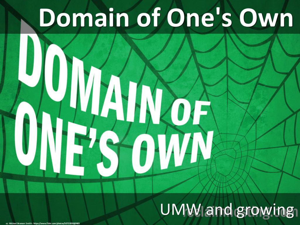 Domain of One's Own UMW and growing cc: Michael...