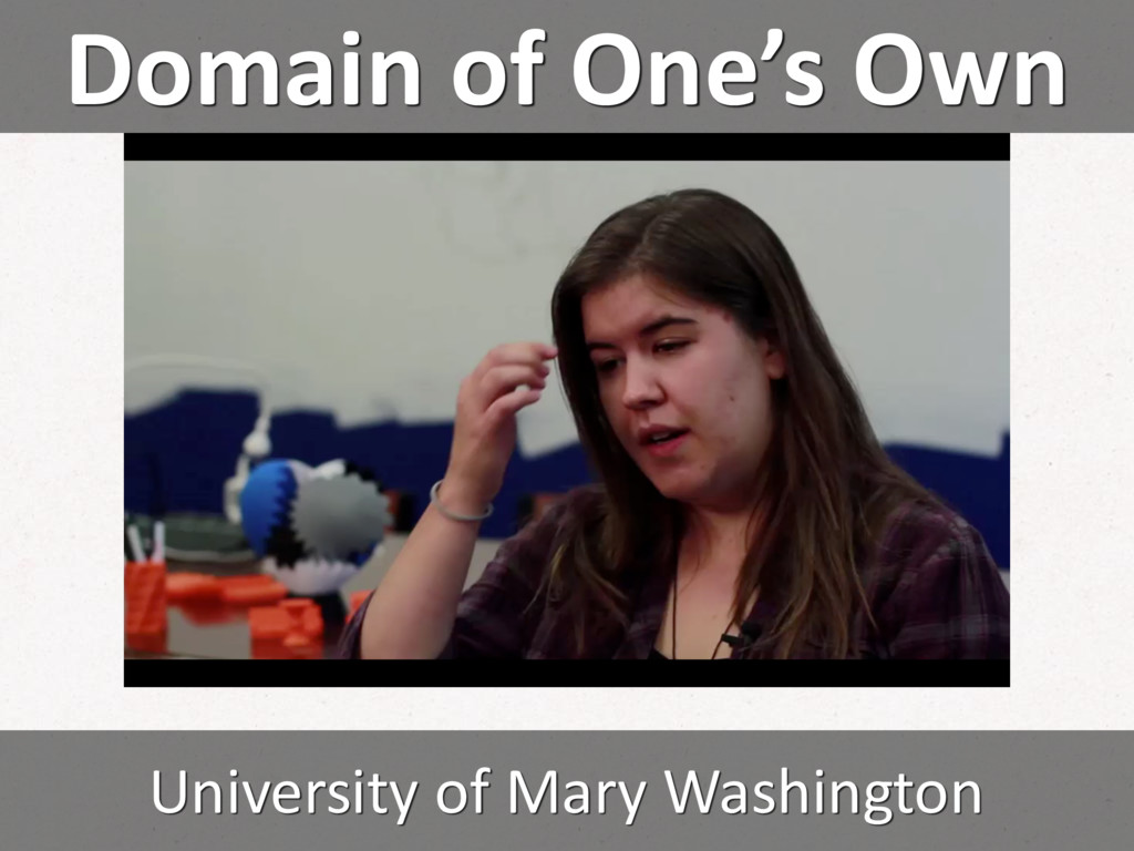 Domain of One's Own University of Mary Washingt...