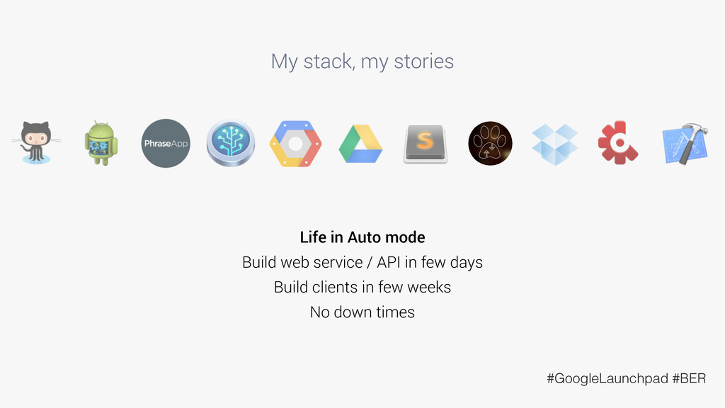 My stack, my stories Life in Auto mode Build we...