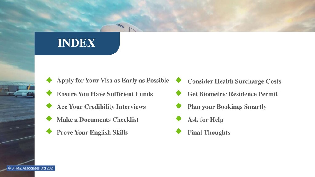 INDEX Apply for Your Visa as Early as Possible ...