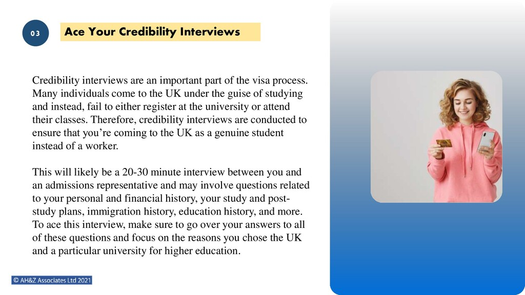 02 Credibility interviews are an important part...