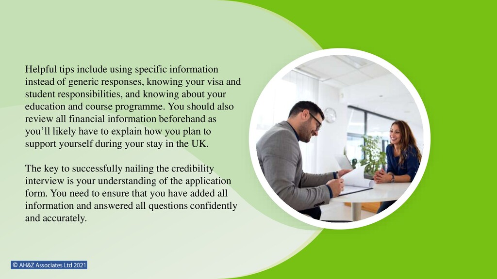 Helpful tips include using specific information...