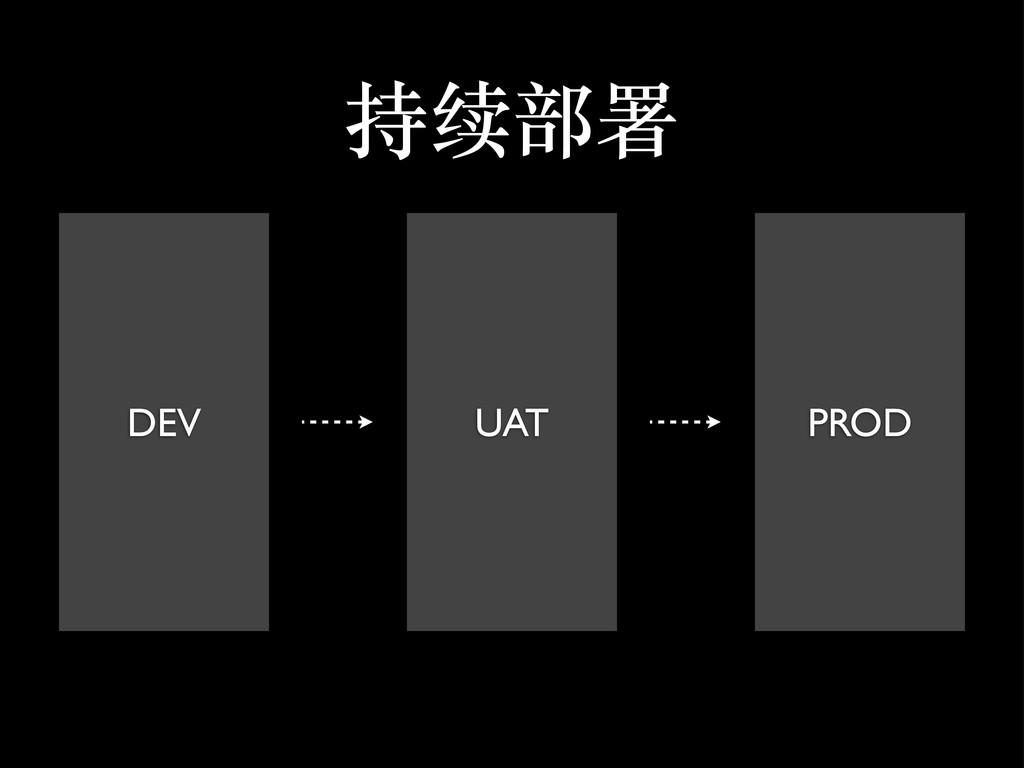 持续部署 DEV UAT PROD