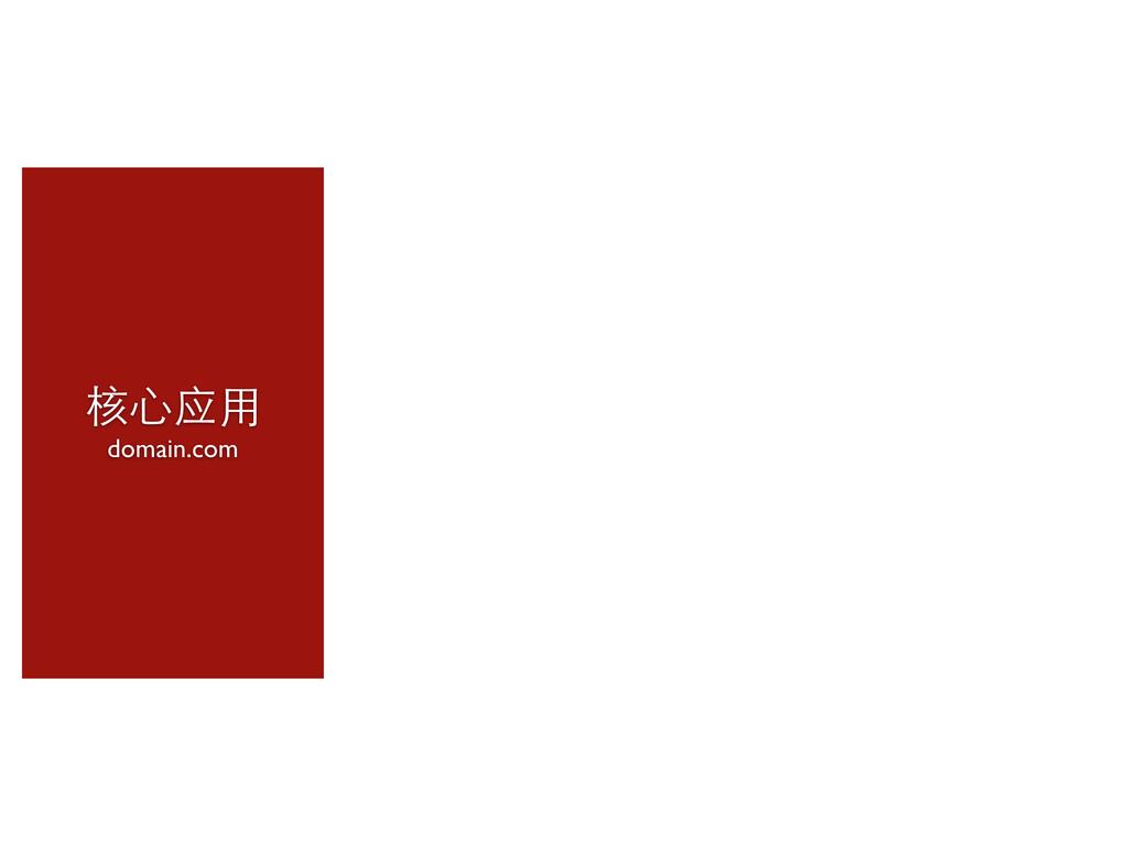 核⼼心应⽤用 domain.com