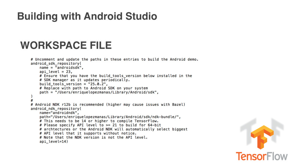 Building with Android Studio WORKSPACE FILE