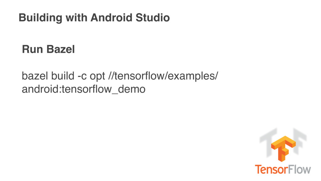 Building with Android Studio Run Bazel bazel bu...