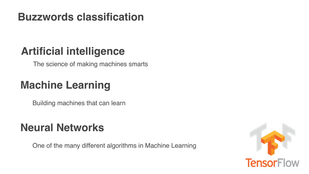 Buzzwords classification Artificial intelligence ...