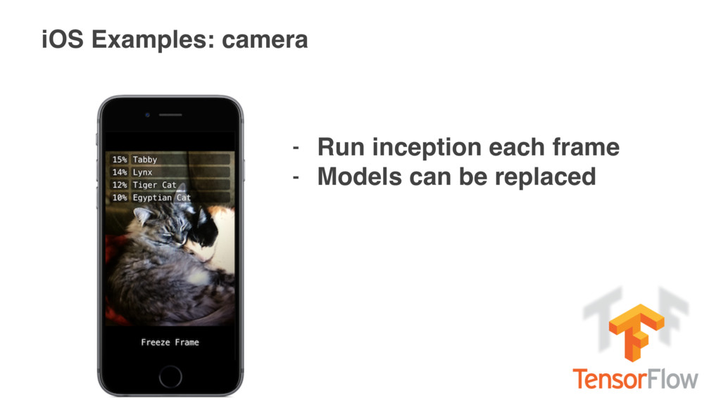iOS Examples: camera - Run inception each frame...