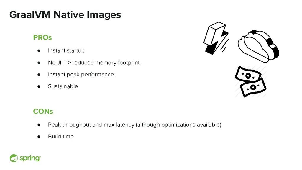 GraalVM Native Images PROs ● Instant startup ● ...