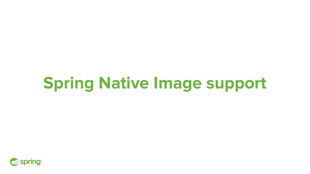 Spring Native Image support